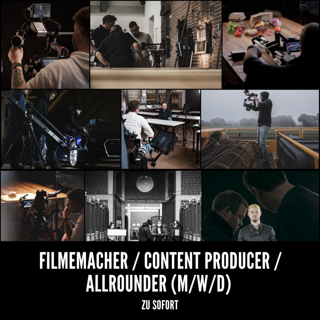 Stellenanzeige Filmemacher